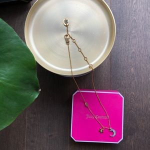 Authentic Juicy Couture Moon and Star Necklace